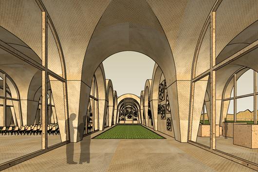 Geschützte Innenhöfe bilden den Dreh- und Angelpunkt im Gebäude und schaffen verschieden nutzbare Zonen.