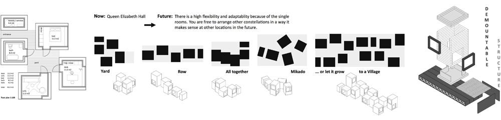 Grundriss und Isometrie mobile Architektur