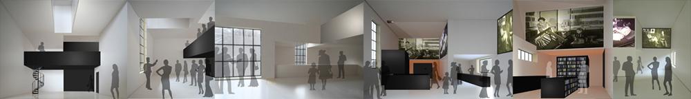 Modellfotos Haus Moholy-Nagy und Haus Gropius