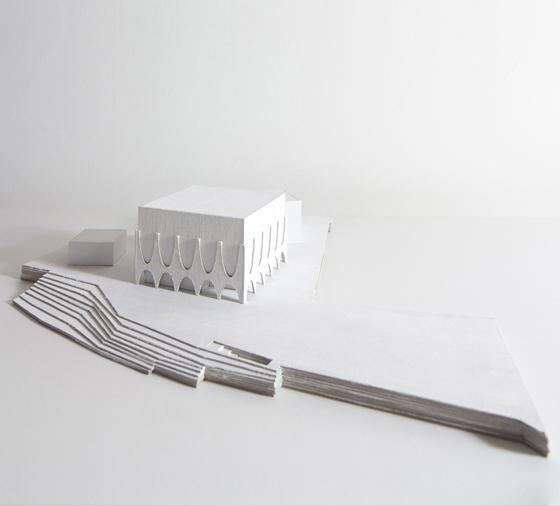 Architekturwettbewerb Competition Neues Bauhaus Museum Weimar Modellfoto